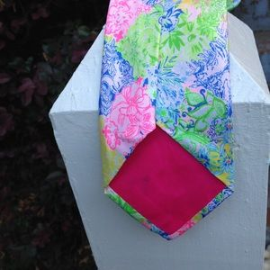 Lilly Pulitzer Accessories - Lilly Pulitzer Silk Tie Spring Color Vivid Pattern